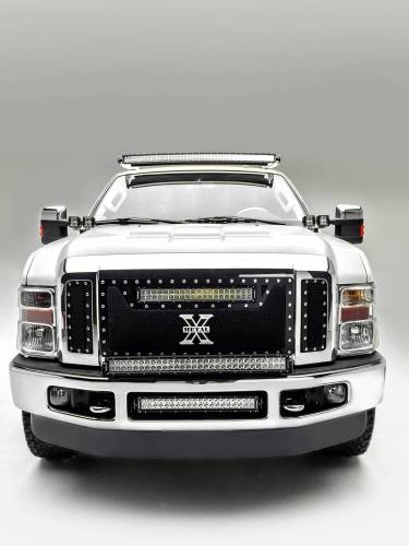 ZROADZ - 2008-2010 Ford Super Duty Front Bumper Center LED Kit with (1) 20 Inch LED Straight Double Row Light Bar - PN #Z325632-KIT