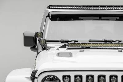 ZROADZ - Jeep JL, Gladiator Front Roof LED Kit with (1) 50 Inch LED Straight Single Row Slim Light Bar and (4) 3 Inch LED Pod Lights - PN #Z374831-KIT4S