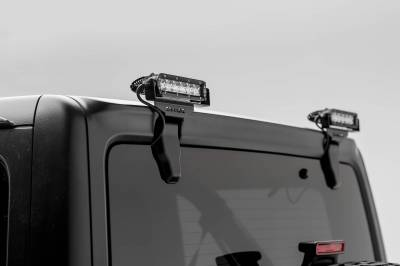 ZROADZ - 2018-2021 Jeep JL Rear Window LED Kit with (2) 6 Inch LED Straight Single Row Slim Light Bars - PN #Z394941-KIT