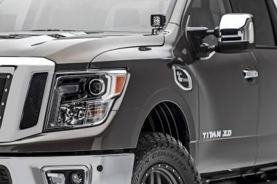 ZROADZ - 2016-2019 Nissan Titan Hood Hinge LED Kit with (2) 3 Inch LED Pod Lights - PN #Z367581-KIT2