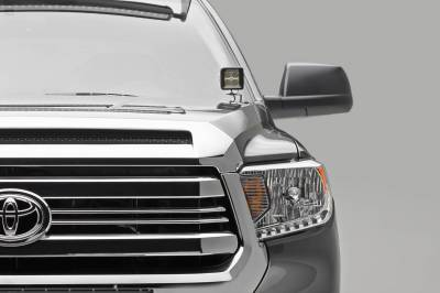 ZROADZ - 2014-2021 Toyota Tundra Hood Hinge LED Kit with (2) 3 Inch LED Pod Lights - PN #Z369641-KIT2