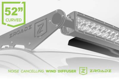 ZROADZ - Noise Cancelling Universal Wind Diffuser for (1) 52 Inch Curved Double Row LED Light Bar - PN #Z330052C