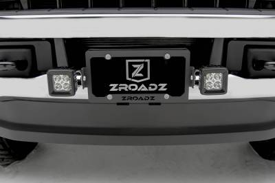ZROADZ - Universal License Plate Frame LED Bracket to mount (2) 3 Inch LED Pod Lights - PN #Z310005