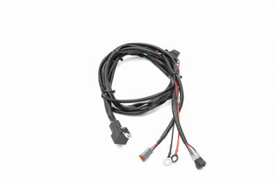 ZROADZ - Universal 9 FT DT Series Wiring Harness to connect 1  LED Light Bar, 200 Watt or below - PN #Z390020S-A