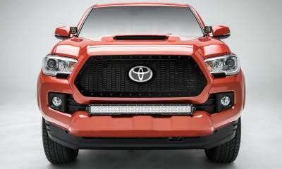 T-REX Grilles - 2018-2021 Tacoma Stealth Laser X Grille, Black, 1 Pc, Insert, Black Studs, Does Not Fit Vehicles with Camera - PN #7719511-BR