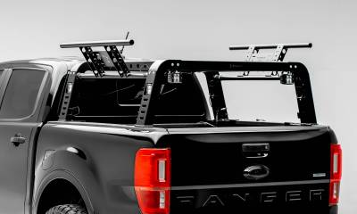 ZROADZ - 2019-2021 Ford Ranger Overland Access Rack With Side Gates with (4) 3 Inch ZROADZ LED Pod Lights - PN #Z835101