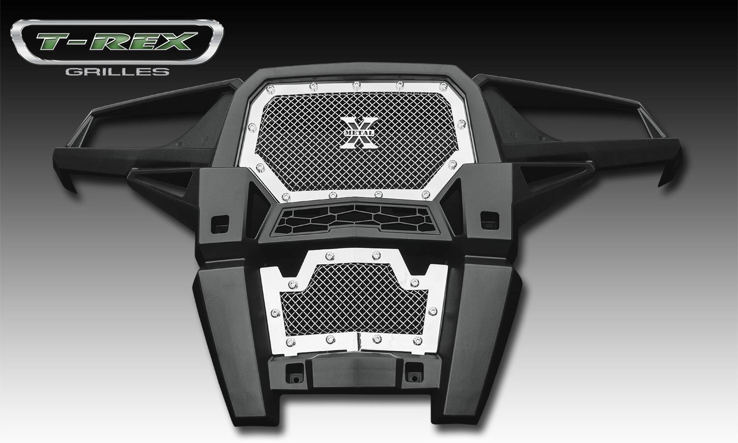 T-REX Polaris RZR XP 1000 Polaris RZR XP 1000, X-Metal, Formed Mesh, Main Grille, REPLACEMENT, 1 Pc, Polished Stainless Steel - Pt # 6719010