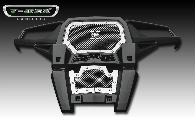 T-REX Grilles - 2014 Polaris RZR XP 1000 X-Metal Grille, Polished, 1 Pc, Insert, Chrome Studs - PN #6719010