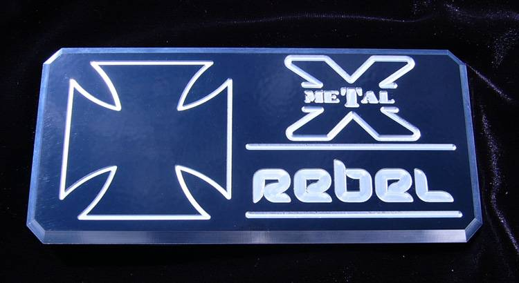 "T-REX ALL Most Vehicles ""Rebel"" Series - Body Side Badges - 1 Pc - Black/ Machine - Pt # 6900013"