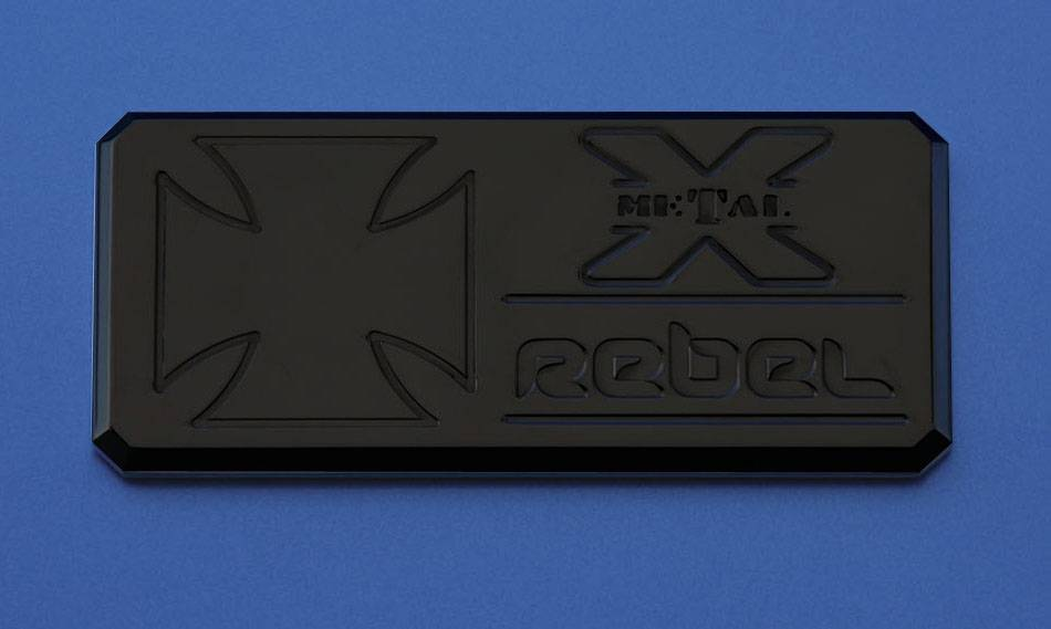 "T-REX Grilles - ALL Most Vehicles ""Rebel"" Series - Body Side Badges - 3 Pc - Black - Pt # 6900031"