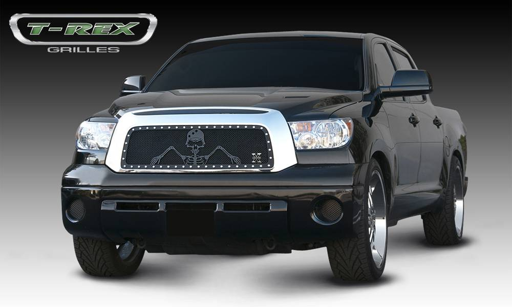 "T-REX Toyota Tundra  URBAN ASSAULT ""GRUNT"" - Studded Main Grille w/ Soldier - Black OPS Flat Black - Pt # 7119596"
