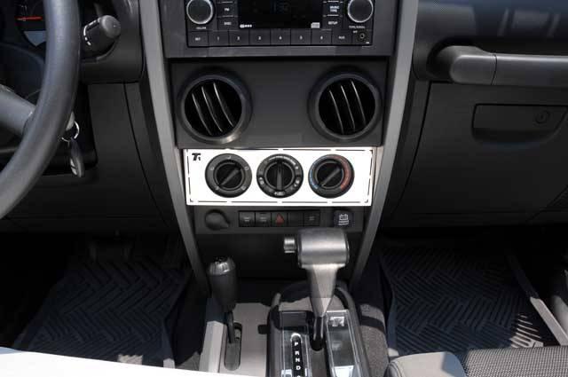 T-REX Grilles - Jeep Wrangler T1 Series Interior Dash Trim - Climate Control Panel - Pt # 10488