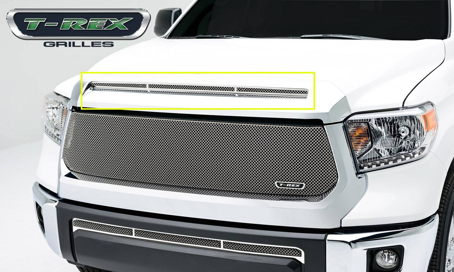 T-REX Grilles - Toyota Tundra  T1 Series Grille, Hood, Overlay, 1 Pc, Polished Stainless Steel - Pt # 119640
