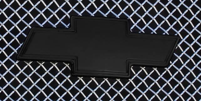 T-REX Chevrolet Silverado Billet Bowtie - w/Border - Black - Pt # 19100B