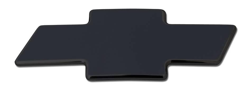T-REX Chevrolet Silverado Billet Bowtie - Plain - Black - Pt # 19101B