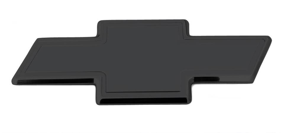 T-REX Chevrolet Silverado 1500 Billet Bowtie - Rear - w/Border - Black - Pt # 19113B