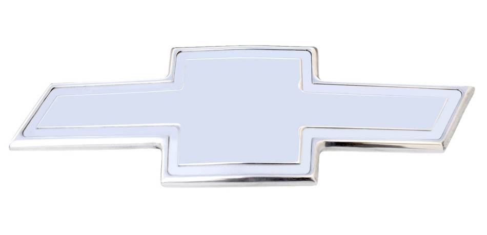 T-REX Chevrolet Silverado HD Billet Bowtie-Front- w/Border - Polished - Pt # 19114