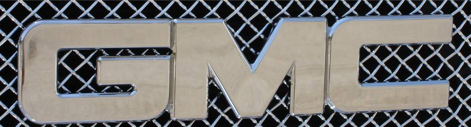 GMC Sierra Billet GMC Emblem - Front- - Polished - Pt # 19200