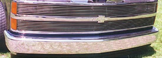 T-REX Grilles - Chevrolet Silverado Phantom Grille Billet Insert - Includes H/Lamp Recess Kit 9 Bars Each - Pt # 20025