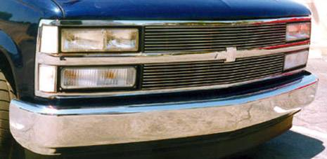 T-REX Chevrolet Silverado Billet Grille Insert 9, 9 Bars - Pt # 20030