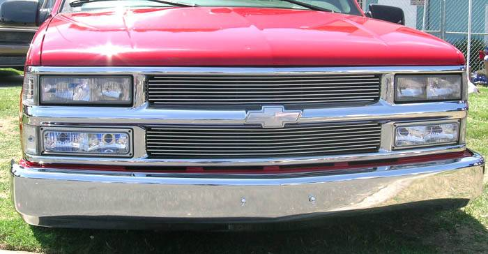 T-REX Grilles - 1994-1998 Silverado, 94-99 Sub/Tahoe Billet Grille, Polished, 2 Pc, Insert - PN #20045