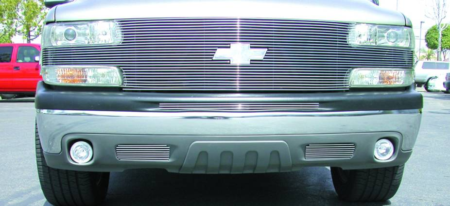 "Chevrolet Suburban/Tahoe, 99-02 Silverado """"Full Face"""" Billet - w/ Billet Bowtie Installed (27 Bars) - Pt # 20079"