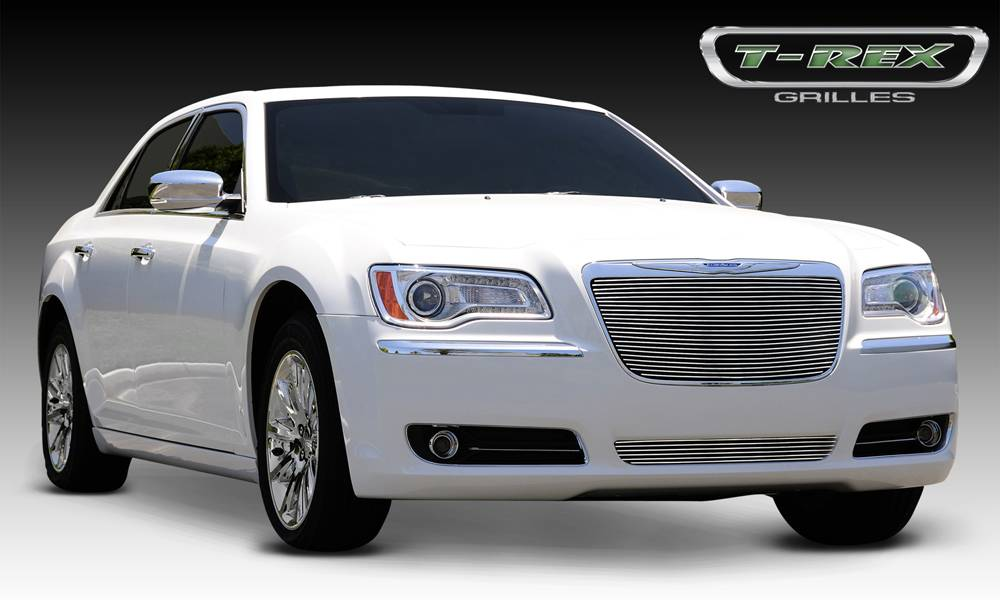 Chrysler 300 All Billet Grille Insert - Installs into OE / factory chrome grille surround - Pt # 20433