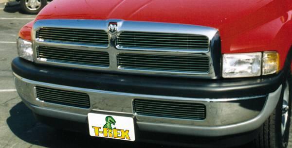 T-REX Grilles - 1994-2001 Dodge Ram Billet Grille, Polished, 4 Pc, Insert - PN #20450