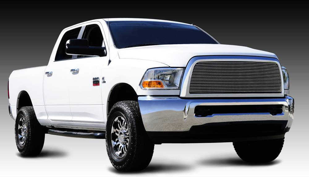 Dodge Ram PU 2500 / 3500 Billet Grille Insert - Custom 1 Pc Full Opening Requires Cutting center Bars - Pt # 20451