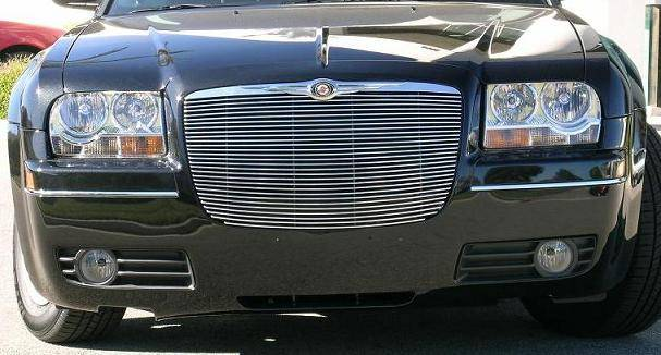 Chrysler 300 All Billet Grille Insert - w/ Pol. Billet Molding - Replaces factory grille 28 Bars - Pt # 20472