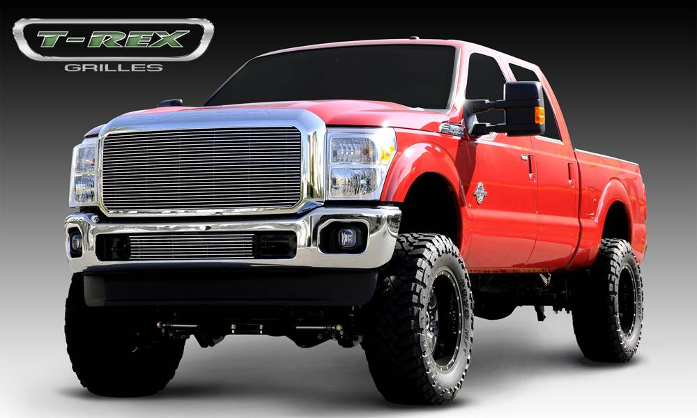 T-REX Grilles - Ford Super Duty Billet Grille Insert - 1 Pc - W/ Optional Logo Plate - Pt # 20546