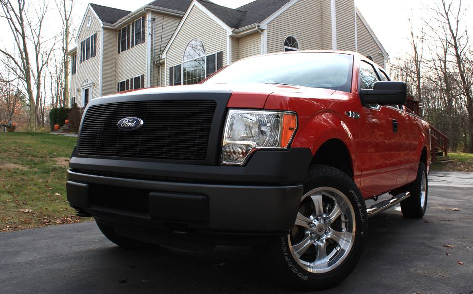 T-REX Ford F-150 Billet Grille - 1 Pc Req. cutting factory grille center - All Black - Pt # 20568B