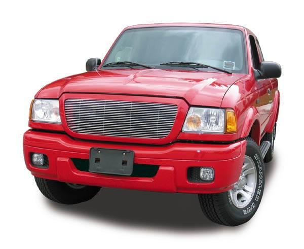 T-REX Grilles - 2004-2005 Ford Ranger Billet Grille, Polished, 1 Pc, Insert - PN #20660
