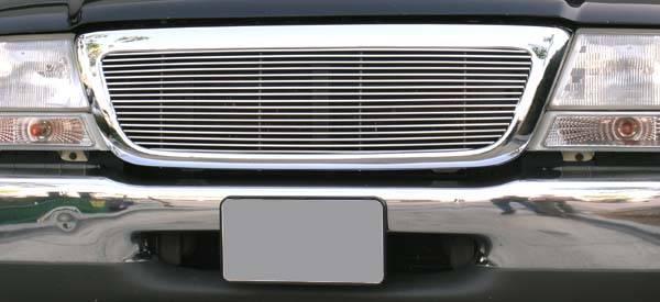 T-REX Ford Ranger 2/4WD Billet Grille Insert 4/2WD - Full Opening, 1 Pc 17 Bars - Pt # 20676
