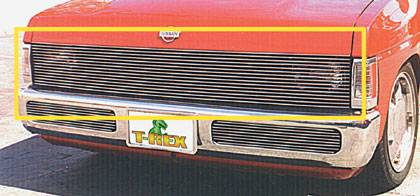 T-REX Grilles - 1986-1997 Nissan Hardbody Billet Phantom Grille, Polished, 1 Pc, Insert - PN #20771