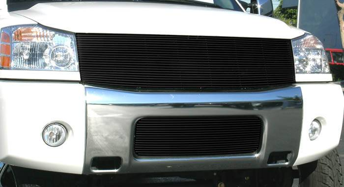 T-REX Grilles - Nissan Titan and Armada  Billet Grille Insert - 1 Pc Replaces Grille Shell 22 Bars - All Black - Pt # 20780B