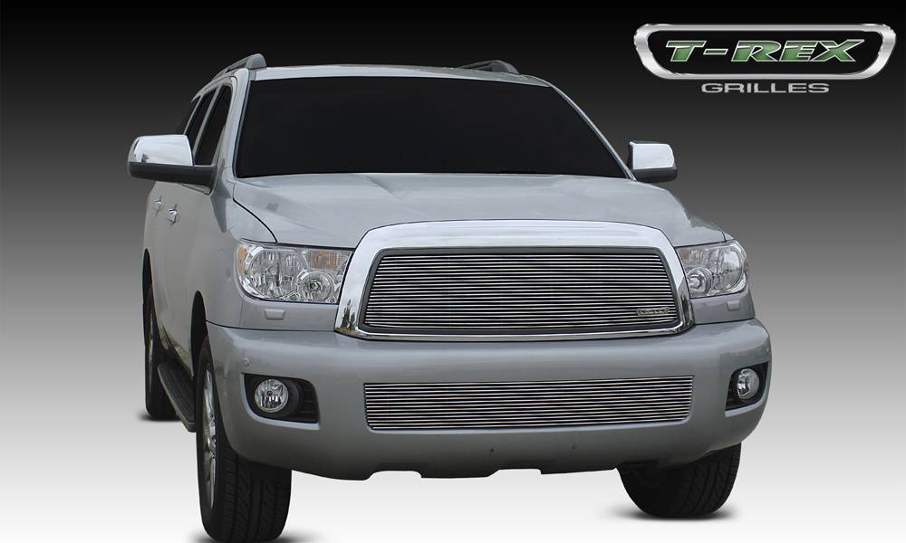 T-REX Grilles - 2008-2017 Toyota Sequoia Billet Grille, Polished, 1 Pc, Insert - PN #20903