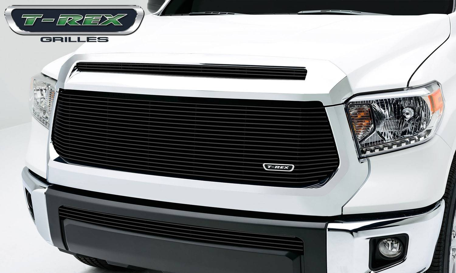 T-REX Toyota Tundra  Billet Grille, Main w/o OE logo recessed area, Replacement, 1 Pc, Black Powdercoated Aluminum Bars - Pt # 20965B