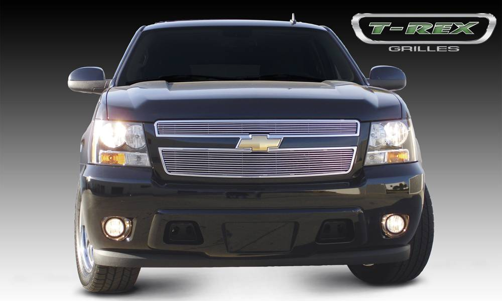 T-REX Chevrolet Tahoe, Suburban, Avalanche Billet Grille Overlay/Bolt On - 2 Pc 6, 11 Bars - Pt # 21051