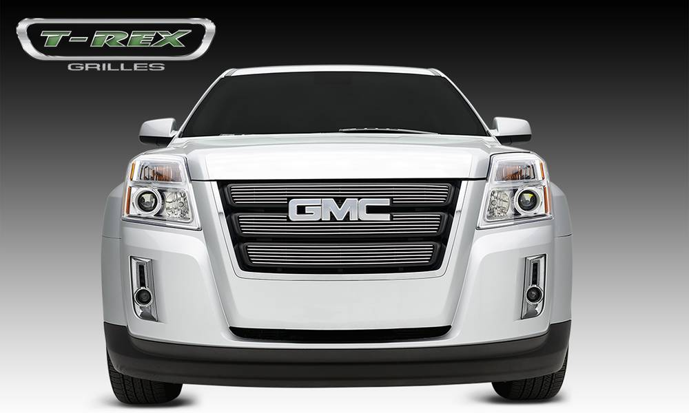 T-REX Grilles - GMC Terrain Billet Grille Overlay/Bolt On - 3 Pc - W/ Logo Opening - Pt # 21154