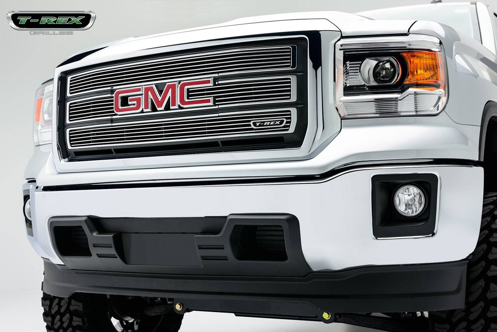 GMC Sierra Billet Grille, Main, Overlay, 4 Pc's, Polished - Pt # 21208