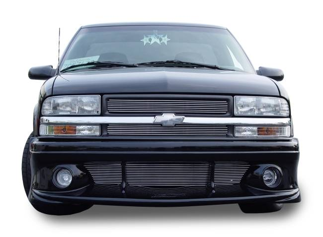 T-REX Grilles - 1998-2004 S-10 Truck, 98-05 S-10 Blazer Billet Grille, Polished, 2 Pc, Insert, For grilles with honeycomb Mesh style - PN #21276