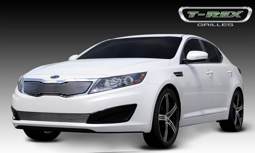 T-REX Grilles - 2011-2013 Kia Optima Billet Grille, Polished, 1 Pc, Overlay - PN #21320