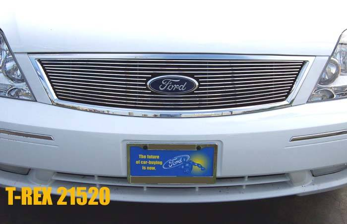T-REX Grilles - Ford Five Hundred  Billet Grille Overlay/Bolt On - W/ Logo Opening 13 Bars - Pt # 21520