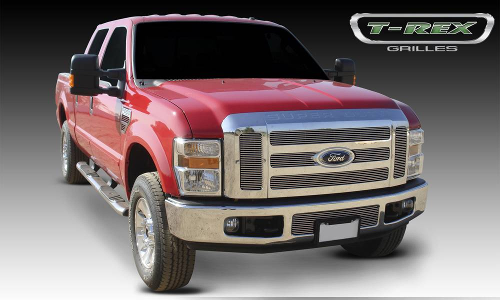 T-REX Ford Super Duty Billet Grille Overlay/Bolt On - 6 Pc - Pt # 21563