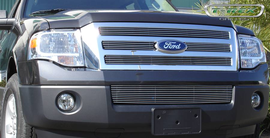 T-REX Ford Expedition Billet Grille Bolt On Easy Install - 4 Pc Design 4 Bars each - Pt # 21594