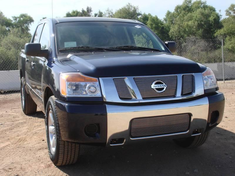 T-REX Nissan Titan Billet Grille Overlay/Bolt On - 3 Pc - W/ Logo Opening - Pt # 21783