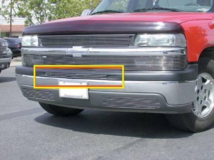 Chevrolet Silverado Bumper Billet Grille Top Pad Insert - 1 Piece 3 Bars - Pt # 25076
