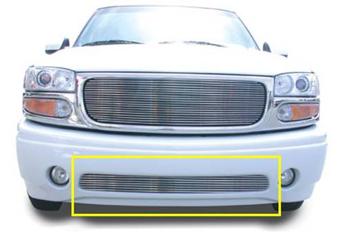 T-REX Grilles - GMC Billet Bumper Grille, Polished, 1 Pc, Bolt-On - PN #25179