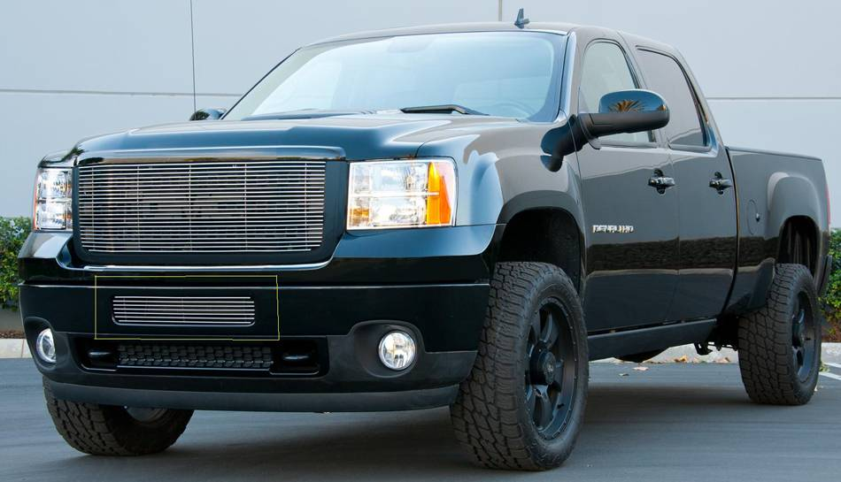 T-REX Grilles - 2011-2014 Sierra HD Billet Bumper Grille, Polished, 1 Pc, Bolt-On - PN #25209